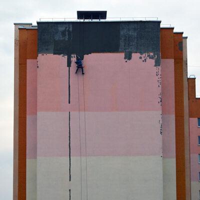 Покраска различных конструкций и сооружений с применением промышленного альпинизма